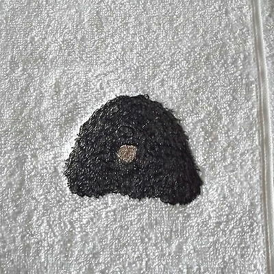Puli Dog Embroidered Face Cloth Flannel