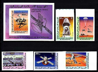 """Mauritania - 1977 """"Viking Mars Project"""" Imperforated (MNH) - Lot 2"""