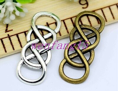 charms connector pendant Celtic knot fit DIY bracelet necklace 10-200pcs 32x12mm