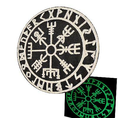 Vegvisir Viking Compass multicam alpine embroidered morale sew iron on patch