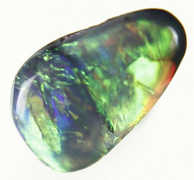 0.3ct ~RICH BRIGHT FIERY RED GENUINE LIGHTNING RIDGE SOLID BLACK OPAL GEM~a259