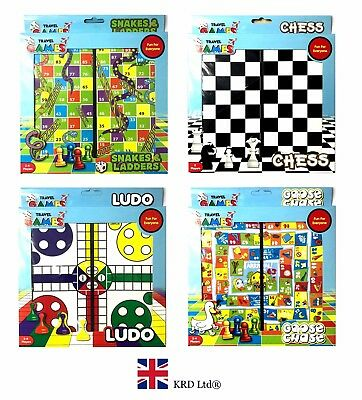 TRAVEL BOARD GAMES Kids Family Fun Christmas Gift Stocking Filler Toy Party Bag