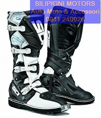 SIDI X-3 X-TREME colore Bianco-Nero Stivali Moto Off Road Cross Enduro