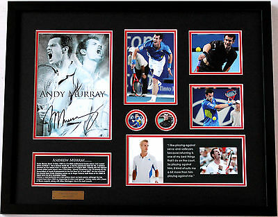 New Andy Murray Signed Limited Edition Memorabilia Framed