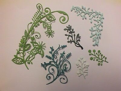 20 New Ass Leaves Flowers Die Cut Toppers & Christmas Wedding White Any Colour