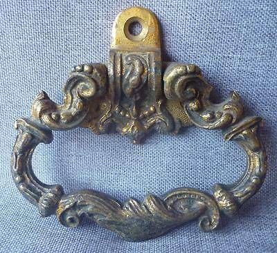 Vintage french piano handle or knocker early 1900's made of ormolu carved decor