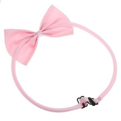 Cat Collar Pet Dog Bow Tie Puppy Accessory Cute Pink BF