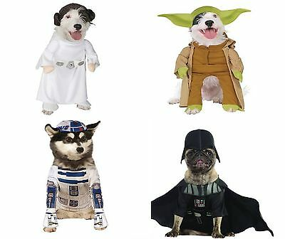Star Wars Rubies Disney Dog Costumes Yoda, Princess Leia, Vader & R2-D2 NWT