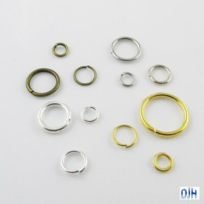 Bulk Jump Ring Jumprings Findings Craft Select from multiple colours & sizes