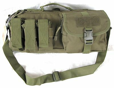 "15"" Padded Hand Gun / Pistol / Range Bag Duffle Bag Ammo Pack Olive Drab Color"