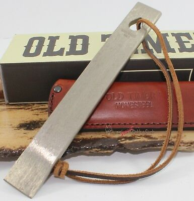 Schrade Old Timer HS1 Honesteel Knife Sharpener Sharpening Leather Belt Sheath