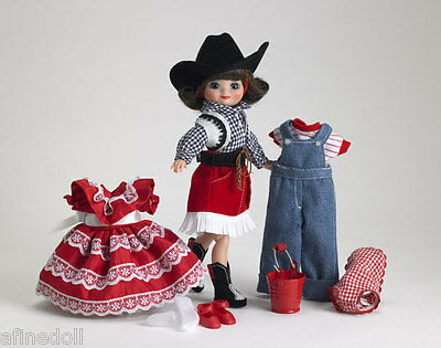"""""""Tiny Betsy McCall Round-Up Gift Set"""" 8"""" cowgirl SIGNED Ginnie Hofmann NRFB New"""
