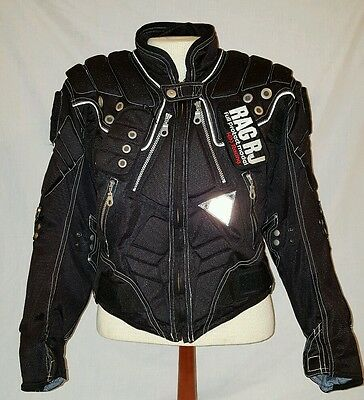 Kiss Racing Team Motor Sports Motorcycle Padded Black Jacket Sz L