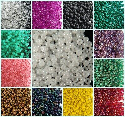 CHOOSE COLOR! 20g (260pcs) 6/0 (4.1mm) Seed Beads Rocailles Preciosa Czech Glass