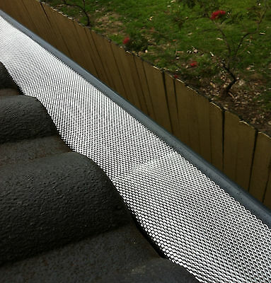 DELUXE Gutter Guard Aluminium Leaf Mesh - That Keeps The Leaves Out