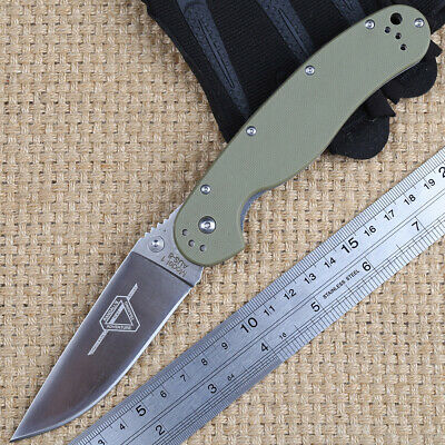 High Quality Wave Black Steel Handle D2 Stainless Steel Hunting Folding Knife