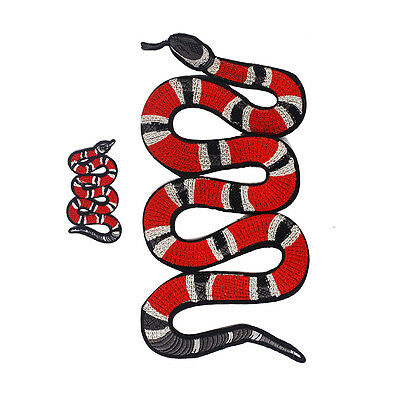2pcs Snake Embroidered Applique Patches Animal Patch Decoration Perfect Patch