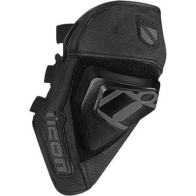 Icon Cloverleaf Knee Protector Motorcycle Motorbike Slider Black | All Sizes