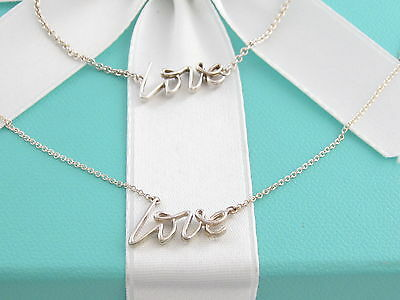 Tiffany & Co Rare Silver Picasso Love Necklace Bracelet Set Box Included