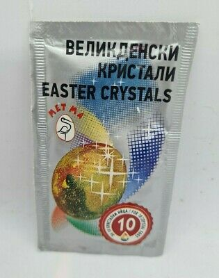 Crystals Glitter for Easter Decorated Eggs egg Dye Paint Colour Dyeing