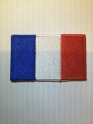 Patch écusson brodé Drapeau FRANCE FRENCH Thermocollant Backpack sac à dos 6x3,5
