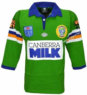 Canberra Raiders 1994 NRL Retro Milk Jersey  'Select Size' S-5XL BNWT