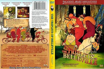 The Triplets of Belleville ~ New DVD ~ Animated Gypsy Jazz Musical (2003)