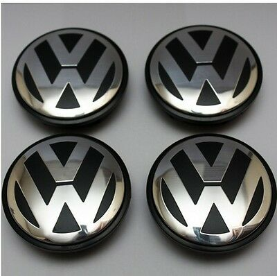 65mm VW VOLKSWAGEN WHEEL RIMS 5 x 112 CENTRE CAPS PASSAT TIGUAN GOLF GTI R EOS