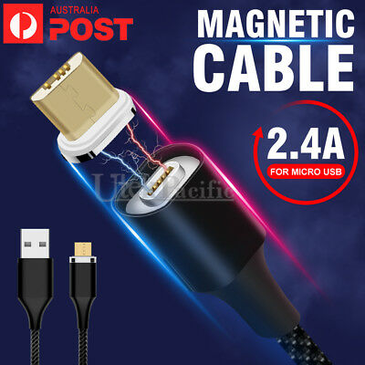 Fast Magnetic Charger Charging Cable For Samsung Galaxy Android Google Micro USB