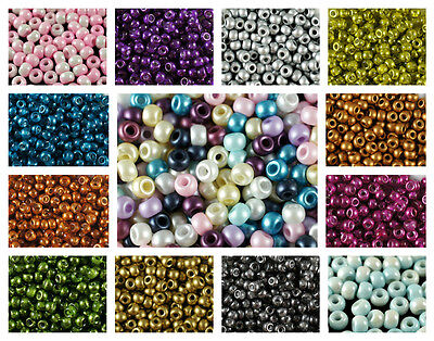 CHOOSE COLOR! 50pcs 5.5mm (2mm hole) Small Pony Round Beads Czech Pressed Glass