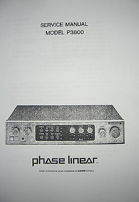 phase linear pl p3800 preamplifier service manual 4 pages