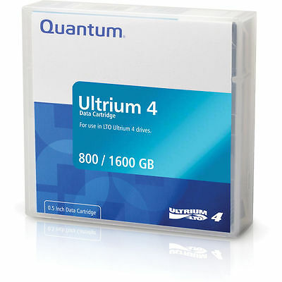 Quantum LTO 4 RW Data Cartridge Tape 800 / 1600 GB (1.6TB) Ultrium 4 MR-L4MQN-01