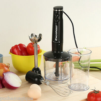 3-in-1 Hand Blender Mixer Food Processor Mixer Bowl Egg Whisk Beater 500W Juicer