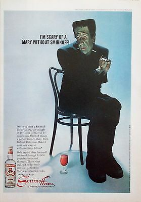 1967 Smirnoff Vodka Paul Ford Frankenstein Scary Of Mary Without Monster ad