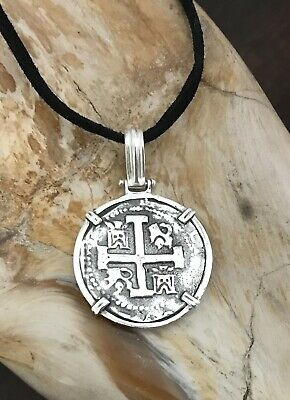 ATOCHA  Coin Pendant 925 Sterling Silver Sunken Treasure Shipwreck Coin Jewelry