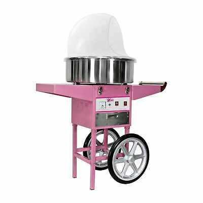 Candy Floss Machine Cotton Candy Maker With Wagon Cart And Cover 1200 W Pink New