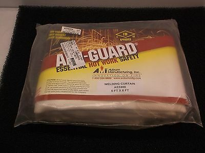 New Auburn Mfr. AS2400-0606 Silica Tan 6 x 6' Welding Curtain, 1800 Deg F, (E25J