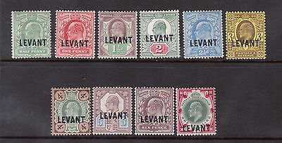 Great Britain Offices In Turkey #15 - #24 VF Mint Set