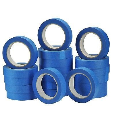 1 Rolls UV Resistant Blue Painters/Decorator Clean Peel Masking Tape25mm x 50M