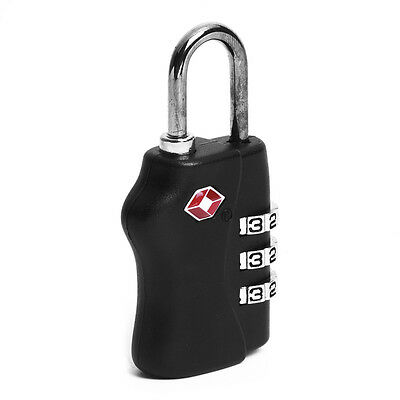 TSA 3 Digit Combination Travel Suitcase Luggage Padlock Lock DT