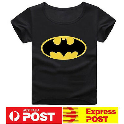NEW Batman Super Hero Boys Tshirt Superhero Kids Tee Top T Shirt Short Sleeve