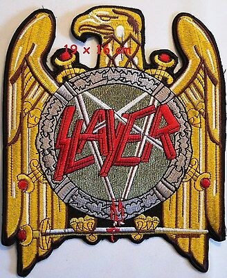 SLAYER - Gold Eagle back patch - FREE SHIPPING