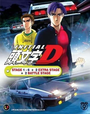 Dvd Initial D Stage 1-6 + 2 Extra Stage + 2 Battle Stage Free Shipping Tracking