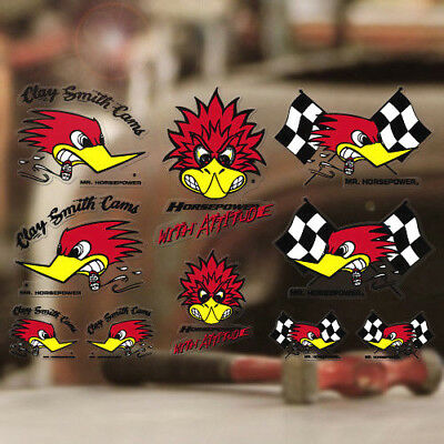 Mr. Horsepower Sticker Original Clay Smith Aufkleber Set 10 Stück Woodpecker