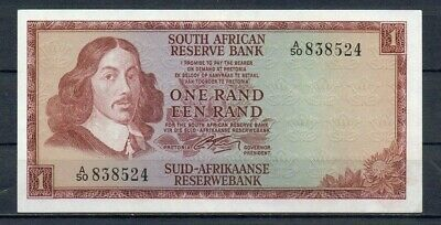 SOUTH AFRICA 1 Rand UNC 1966 p-110a sign 4 Rare Note