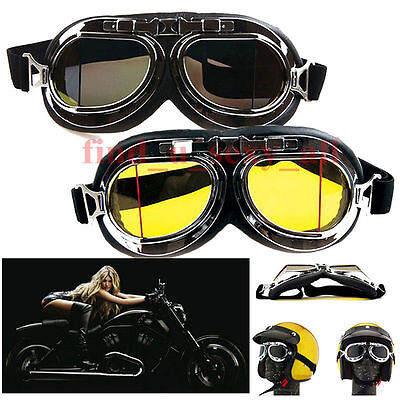 Goggles Scooter Motorcycle Bicycle ATV Helmet Glasses Eye Protection Anti-fog