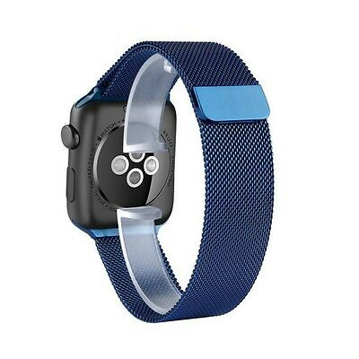 Aviato Apple Watch 42 mm Magnetic Milanaise Armband - Blau