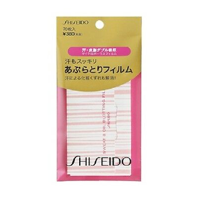 F/S From JAPAN Shiseido Sweat & Oil Blotting Film Paper 70 sheets High Quality