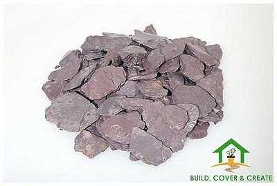 Plum Slate Chippings 40mm for Landscaping & Driveways 900kg Bulk Bags