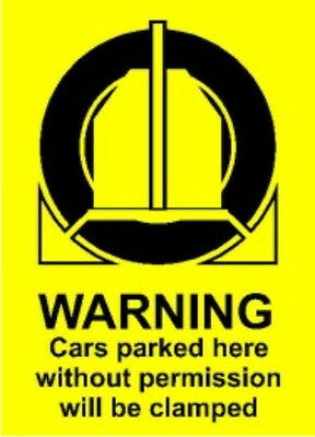 Warning CLAMPING-  Parking Sign - A3 size - Rigid